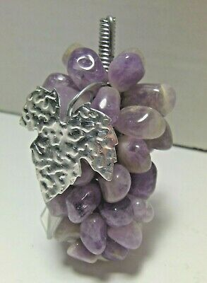 Vintage Polished AMETHYST/Quartz Semi-Precious Decorative Grape Clusters