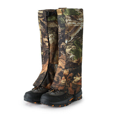 2pcs Camo Outdoor Hiking Hunting Snow Snake Waterproof Boots Legging Gaiters