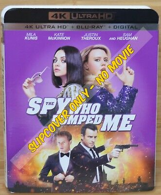 THE SPY WHO DUMPED ME 4K Blu-ray Slipcover (COVER ONLY-NO MOVIE DISC)