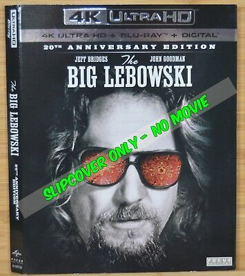 BIG LEBOWSKI 4K Blu-ray Cardboard Slipcover (COVER ONLY-NO MOVIE DISC OR CASE)