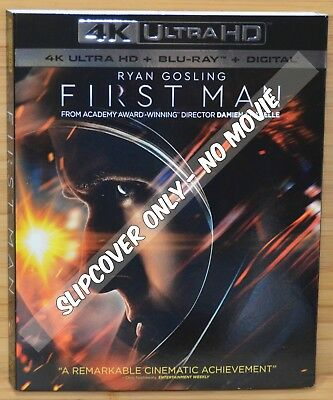 FIRST MAN 4K UHD Blu-ray Slipcover Dust Cover (NO MOVIE DISC)
