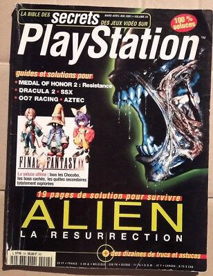 Magazine LA BIBLE DES SECRETS DES JEUX VIDEOS SUR PLAYSTATION - VOLUME 24 - 2001