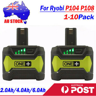 18V 6.0AH 4.0Ah Battery For Ryobi ONE+ Plus P104 P108 P102 P103 P105 P107 P109
