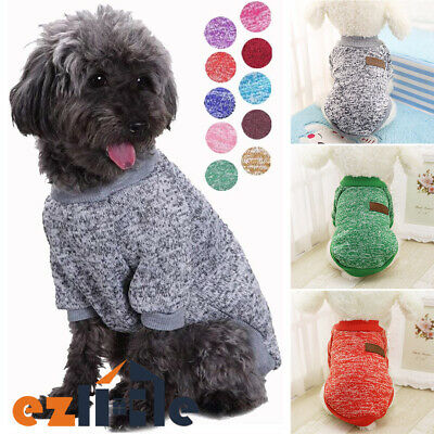 Puppy Cat Winter Knitted Pet Clothes Warm Cute Jumper Knitwear Dog Sweater Coat