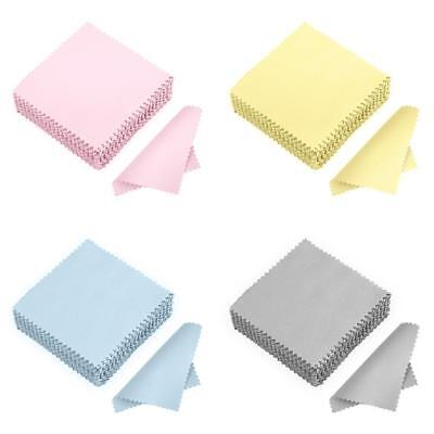 50/100Pcs Clean Polishing Cloth for Sterling Silver Gold Platinum Jewelry AU#