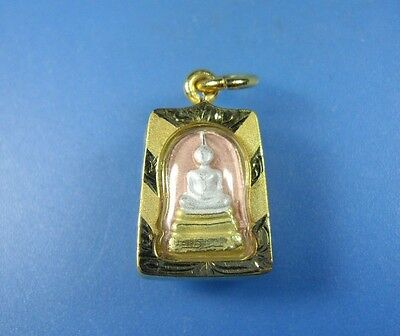 New Small Pendant Phra Somdej Toh Thai Buddha Amulet  Rich Good Luck Wealth Holy