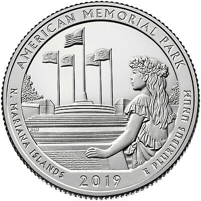 2019 20 D + 20 P QUARTERS AMERICAN MEMORIAL PARK NORTHERN MARIANA  Plus Extras!