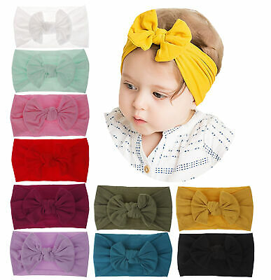 1pc Super Stretchy Nylon Headbands Bow Butterfly Headwraps Baby Girl Infants Kid