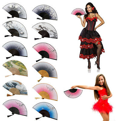 Chinese Style Hand Held Fan Bamboo Paper Folding Fan Wedding Landscape Fan Hot J
