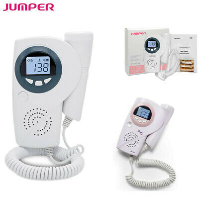 Fetal Doppler Rechargeable Baby Heartbeat Monitor 3MHz Probe Backlit LCD Display