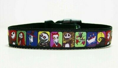 Nightmare Before Christmas Dog Collar or Matching Lead or Seat Belt Puppy Leash