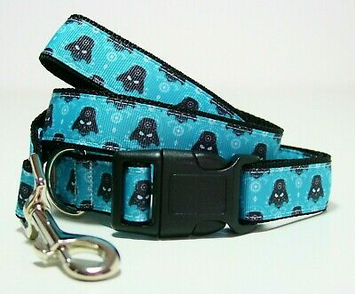 Darth Vader Dog Collar or Matching Lead or Seat Belt Leash Star Wars Disney