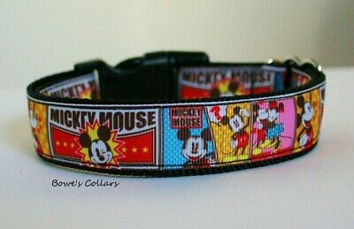 Mickey Mouse Dog Collar or Matching Lead or Seat Belt Puppy Disney Minnie Mouse
