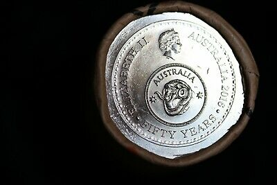 2016 50 cent Decimal Currency Coin Roll *LOW START