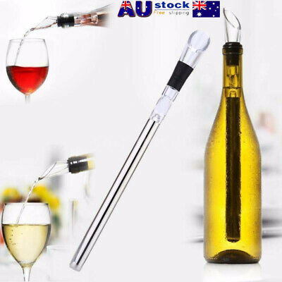 Wine Stainless Steel Beer Chiller Cooler Bottle Chill Ice Cold Sticks Pourer AU