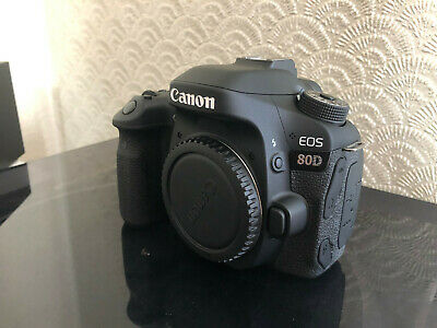 CANON EOS 80D 24MP DIGITAL SLR CAMERA BODY - Very Low Usage - EOS80D