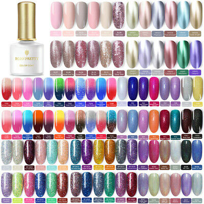 BORN PRETTY 6ml Soak off UV Gel Polish Glitter Holographic Nail Art Varnish Tips