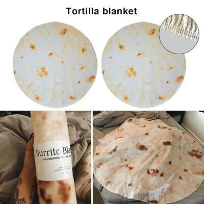 Clever Original Burrito Blanket Throw Tortilla Texture Soft Blanket Blankets & Throws High Quality High Quality