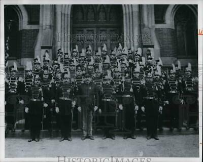 1976 Press Photo Michael P. Kniola at the head of the Knights of St. Casimir