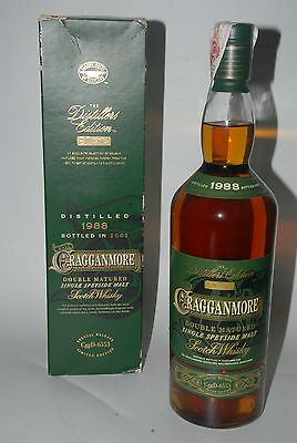 WHISKY CRAGGANMORE 1988 DOUBLE MATURED DISTILLERS EDITION MALT BOTTLE 2002 1l.