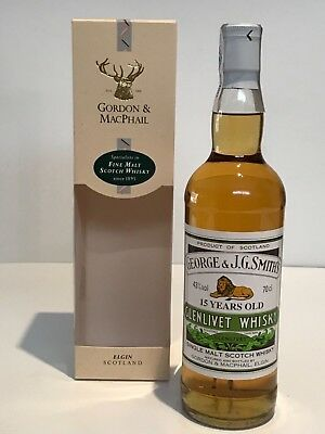 WHISKY GLENLIVET 15 YEARS OLD GORDON & MACPHAIL SINGLE HIGHLAND MALT 70cl BOX
