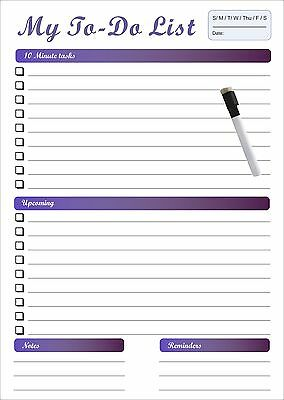 Large A3 Magnetic whiteboard Personal Planner with a free marker