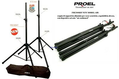 PROEL FRE300KIT 2 SUPPORTI ASTE CASSE c BORSA COPPIA STAND STATIVO AIR Cushioned