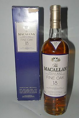 WHISKY MACALLAN 18 YEARS OLD FINE OAK 70cl. IN BOX RARE