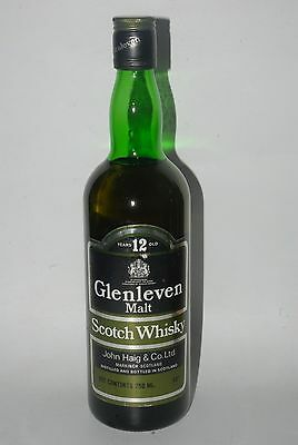 WHISKY GLENLEVEN 12 YEARS OLD  MALT SCOTCH WHISKY  AÑOS 80 70cl