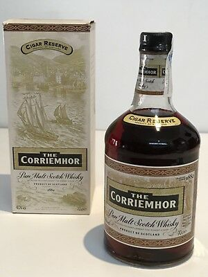 THE CORRIEMHOR CIGAR RESERVE OLD VERSIÓN  PURE SINGLE MALT SCOTCH WHISKY 70cl.