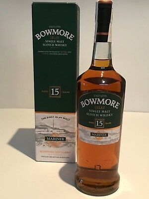 Whisky Bowmore 15 Years Old Mariner In Box Rare Single Malt 1L.