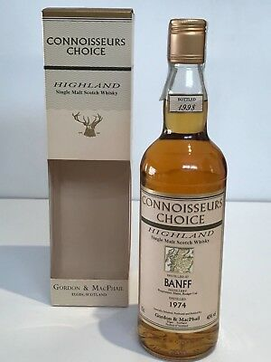 WHISKY BANFF 1974 CONNOISSEURS CHOICE 24 YEARS OLD BOTTLE IN 1998 70cl.