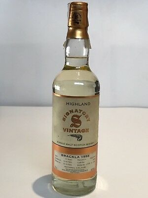 WHISKY SIGNATORY VINTAGE ROYAL BRACKLA 1993 11 YEARS OLD SINGLE MALT 2004 70cl.