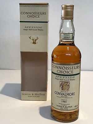 WHISKY CONVALMORE 1981 CONNOISSEURS CHOICE 17 YEARS OLD BOTTLE IN 1998 70cl.