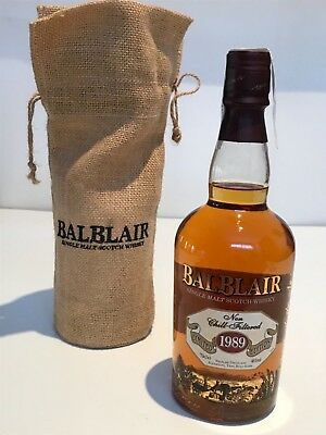 WHISKY BALBLAIR 1989 LIMITED EDITION SINGLE MALT SCOTCH WHISKY 70cl.