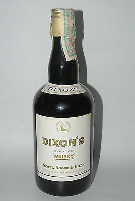 WHISKY DIXON´S BLENDED SCOTCH WHISKY AÑOS 70 SCOTT  ROGER & NIXON 75cl.