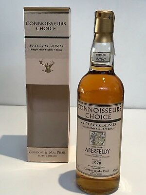 WHISKY ABERFELDY 1978 CONNOISSEURS CHOICE 22 YEARS OLD BOTTLE IN 2000 70cl.