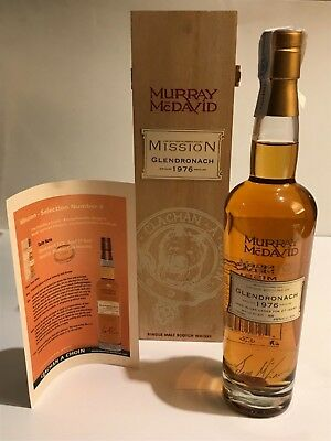 WHISKY GLENDRONACH 1976 MURRAY McDAVID MISSION 27 YEARS OLD OAK CASKS  70cl