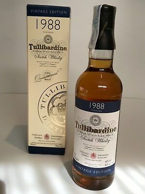 WHISKY TULLIBARDINE 1988 SINGLE HIGHLAND MALT BOTTLED 2005 70cl IN BOX