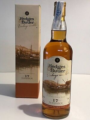 WHISKY TEANINICH 1985-2002 17 YEARS OLD HEDGES & BUTLER SINGLE MALT IN BOX 70cl