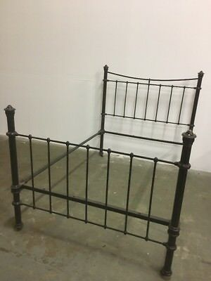 Black Iron Double Bed Vintage Heavy Duty