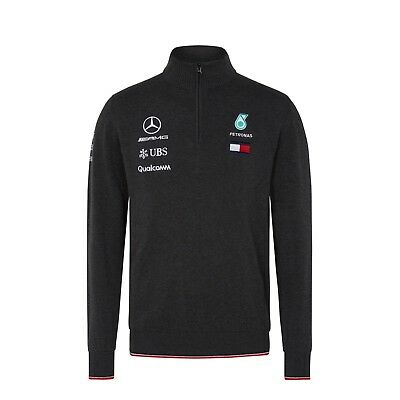 2018 Mercedes AMG F1 Team Lewis Hamilton Zip Knitted JUMPER Sweater Top *SALE*