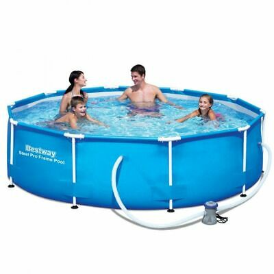 Bestway Steel Pro Frame Round Swimming Pool Set with Filter Pump - 10ft x 30in