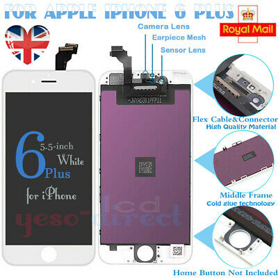 White For iPhone 6 Plus Screen Replacement LCD Touch Display Digitizer Assembly