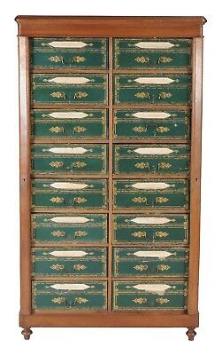 French Chest of Drawers Louis Phillipe Mahogany Cartonnier 19th Century Antique