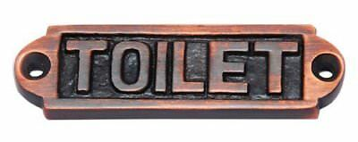 Toilet Door Sign Brass Antique copper color