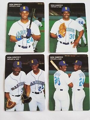 c1e407240f Ken Griffey Jr 1991 Mother's Cookies Father And Son Complete Set Hof  Mariners