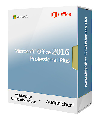 Microsoft Office 2016 Professional Plus 1PC Download Lizenz -Sofort Lieferbar