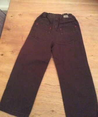Bnwot Boys Calvin Klein Brown Chino Jeans Trousers Age 5 Years