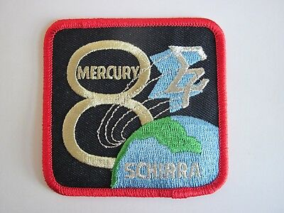 NASA Mercury Mission Program Mercury 8 Embroidered Patch (approx 7.5 cm).